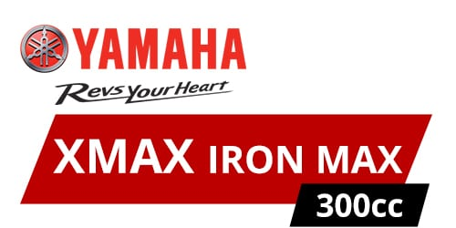 XMAX 300 IRON MAX label